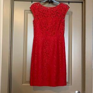 Gorgeous Red Lace Banana Republic Dress